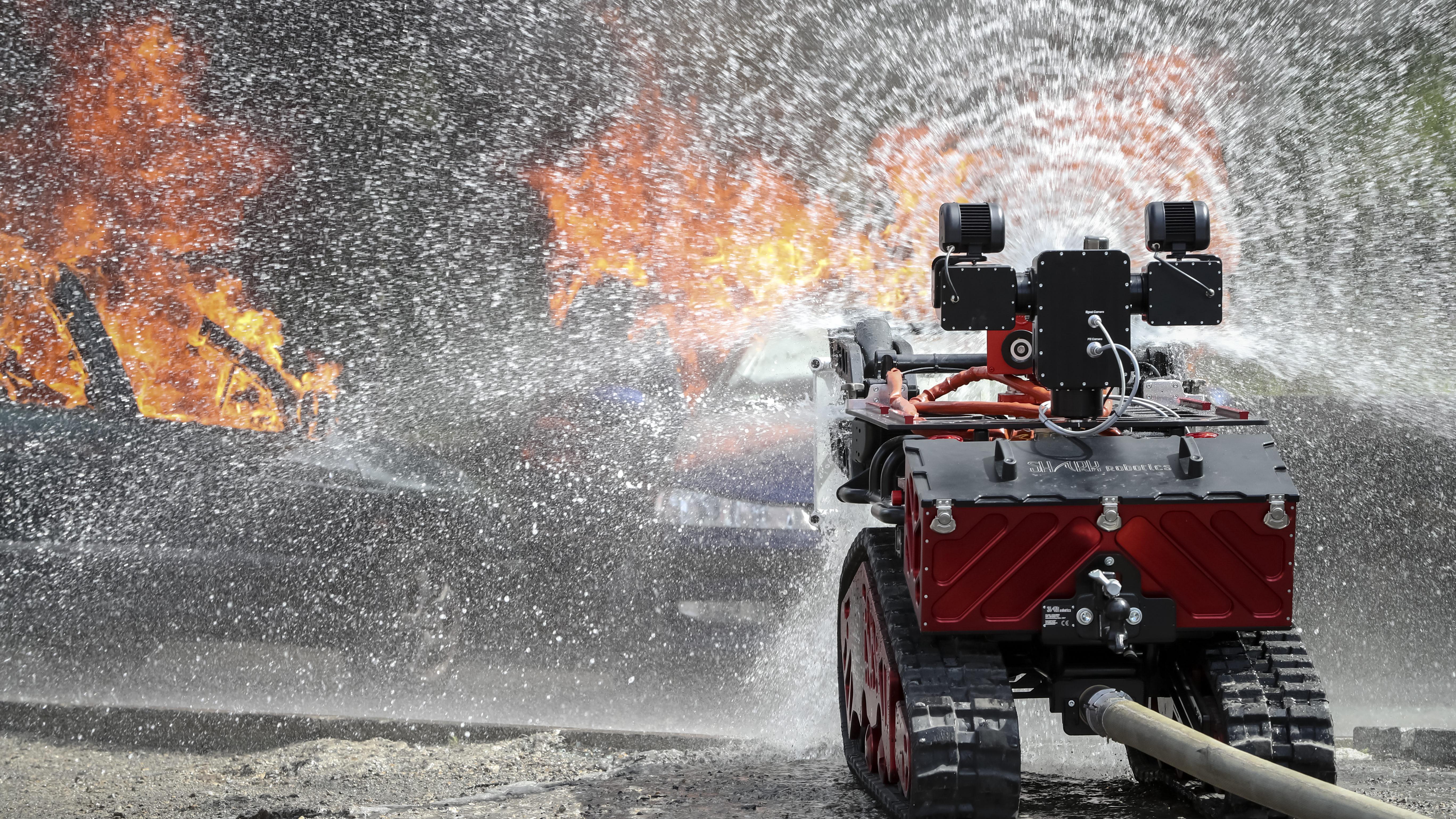 Canon à eau-Colossus-Robot pompier-BSPP