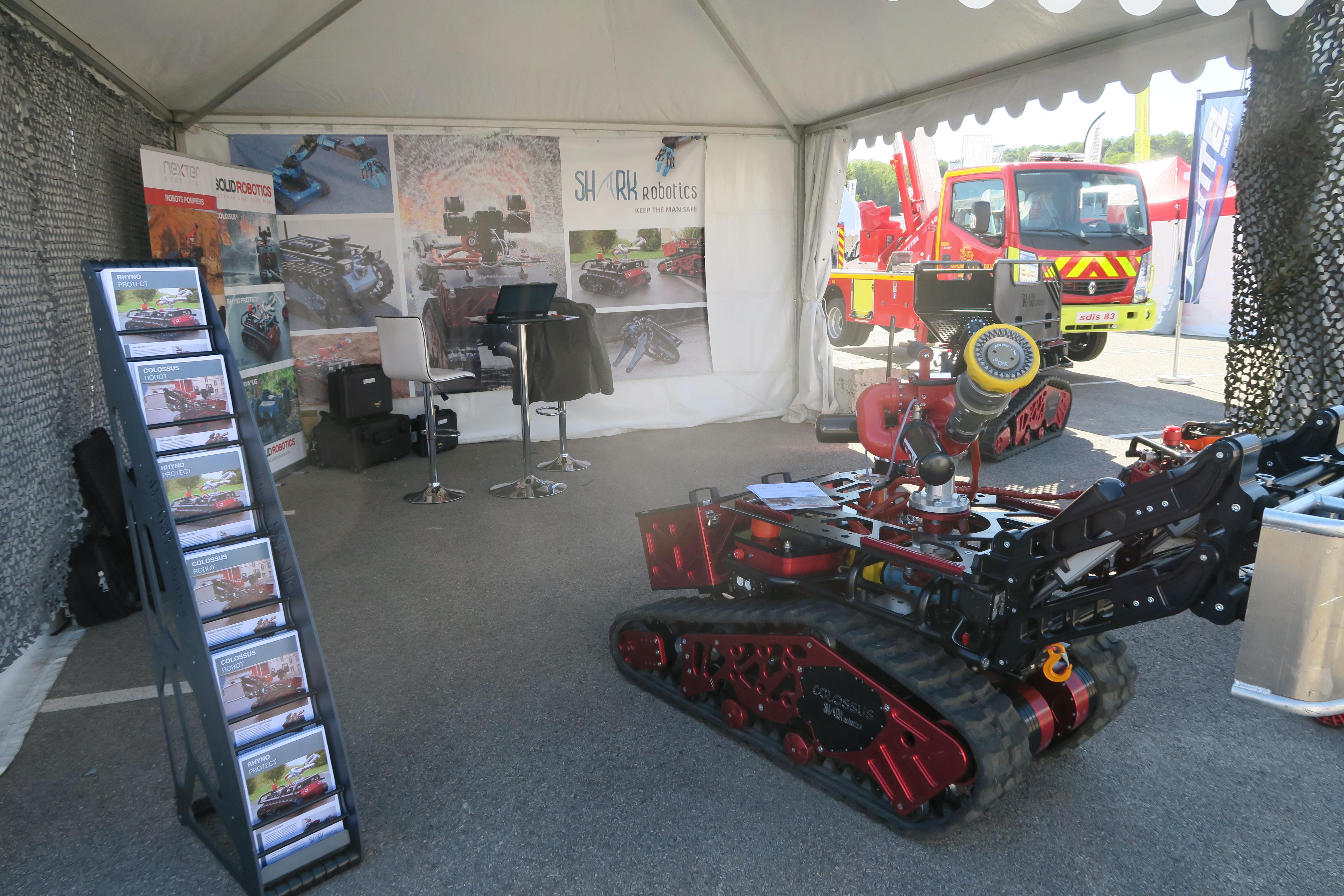Shark Robotics-Congrés National des Sapeurs Pompiers 2018